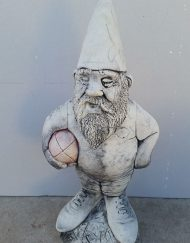 Gnome holding ball