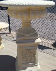 Large Jefferson Urn with Decorative Pedestal