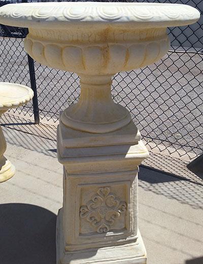 Large Jefferson Urn with Decorative Pedestal