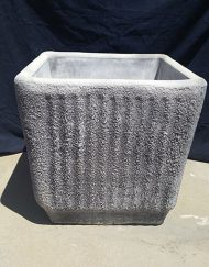 Square Ribbed Pot