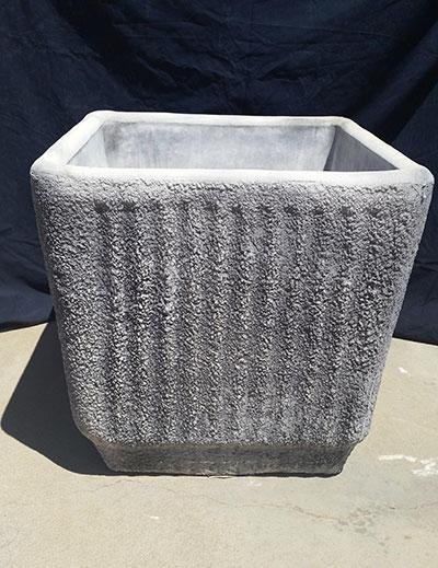 Square Ribbed Pot