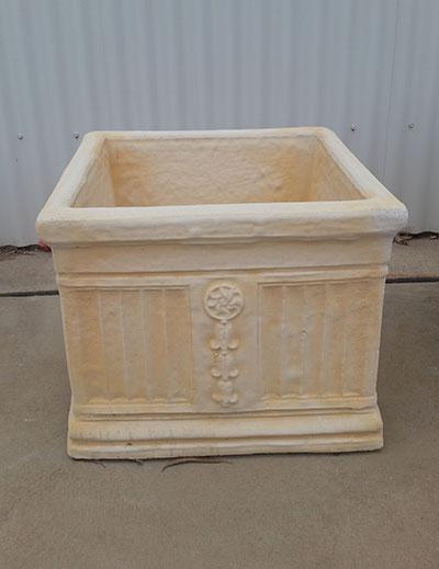 Large Square Pattern Pot