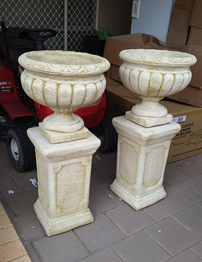 Small Urn and Square Pedestal
